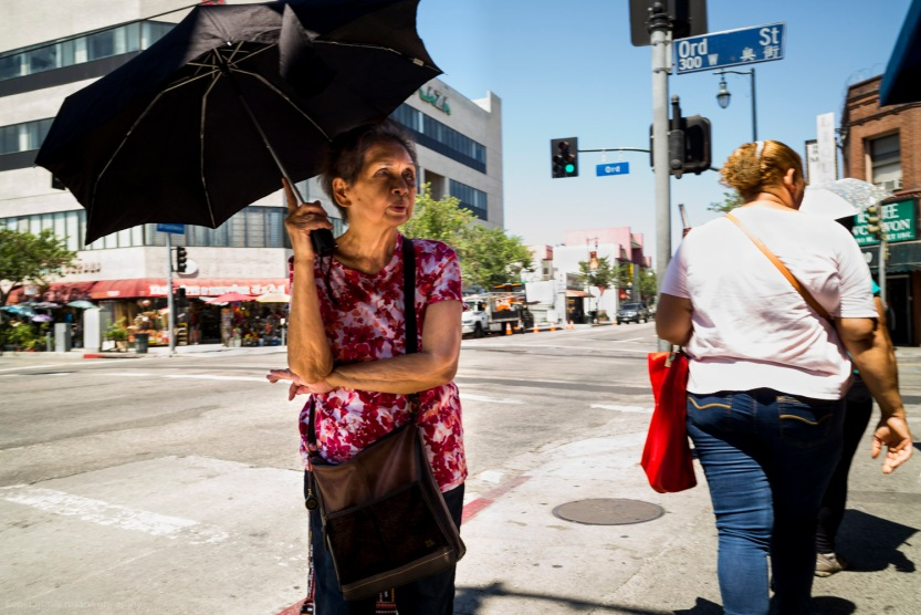 Street Photography Chinatown Los Angeles - Woman with Umbrella