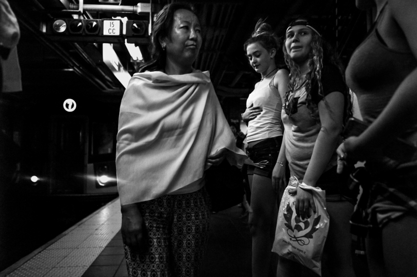 Street Photography Times Square 2016 - Waiting For The Train