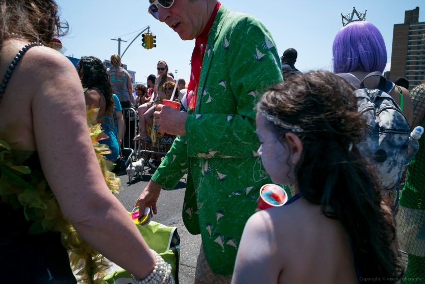 Street Photography Coney Island 2016 - Man With A Green Coat