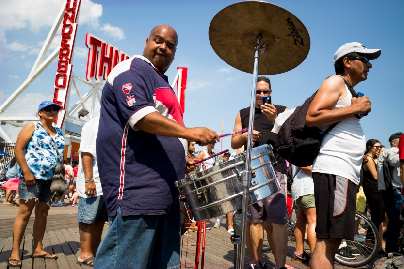 The Drummer 2016 Street Boardwalk Coney Island Brooklyn 2016 07 17 L1001019.jpg