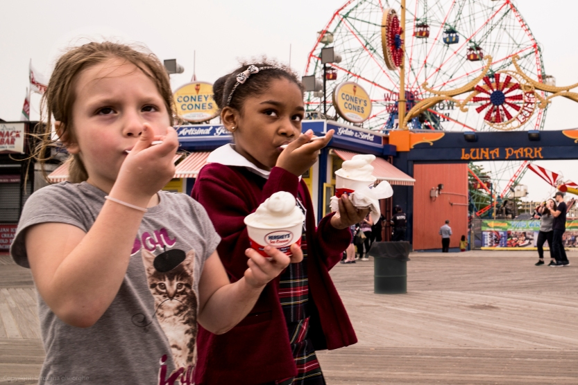 Two Girls With Icecream Coney Island 2016 06 03 L1002246